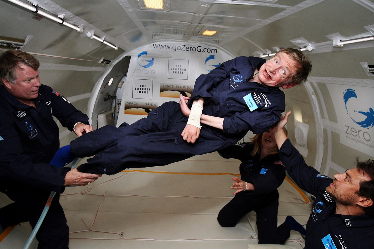 1280px Physicist Stephen Hawking in Zero Gravity NASA